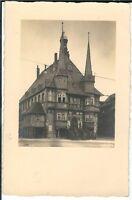 Ansichtskarte Wernigerode - Rathaus Frontalansicht - 1932 - schwarz/weiß