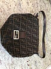 Authentic Vintage Fendi Zucca Baguette Shoulder Bag