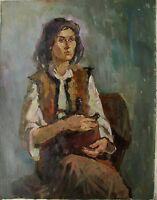 Russian Ukrainian Oil Painting female Portrait girl woman Impressionism realism