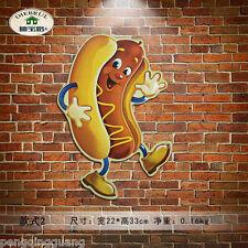 Vintage metal Tin signs Hotdog Antique Hand-paint Poster Pub Home Wall Decor