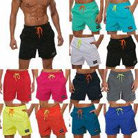 Mens Drawstring Swimming Board Shorts Causal Beach Summer Swimwear Bottoms Pants