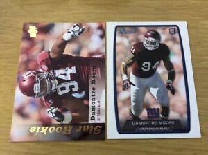 Damontre Moore 2013 2 Rookie Card Lot + 5 Bonus Cards!
