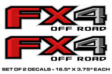"""FX4 Off Road Truck Bed Stickers Decal Set For 2015-2018 Ford F150 17""""X4"""" RED"""