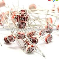 30xPhotoresistor LDR CDS 5mm Light-Dependent Resistor Sensor GL5516 ArduinosBD$N