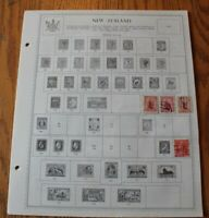 M26 Lot of New Zealand Stamps on 6 Minkus binder Pages