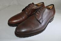 Allen Edmonds San Marco 5 Eyelet Blucher Oxford Pebble Brown Leather Men 11 D