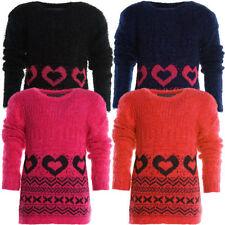 Mädchen-Pullover & -Strickware mit Rundhals-Ausschnitt in Größe 98 Freizeit