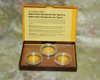 Kodak Retina Close-up Lens Set Type R Boxed - 3 Filters