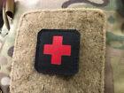 Medic Cross, 45x45mm Lasercut Patch, black red, Cordura LasercutUniformen & Effekten - 28723