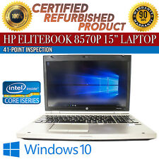 "HP EliteBook 8570p 15"" Intel i7 4GB RAM 500GB HDD Win 10 WiFi USB B Grade Laptop"