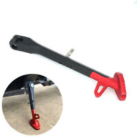 9.8 INCH Black & Red CNC Motorcycle Scooter Moped Side Stand Kickstand Leg 1Pcs