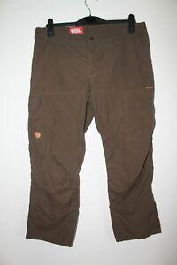 "Fjallraven Brown Karla Low G1000 Trousers Walking Outdoor Size 44 Waist 36"""