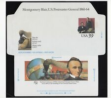 Us Stamp 1989 #Uc62 Air Mail Postal Stationery Blair & Lincoln 39c Mint Entire