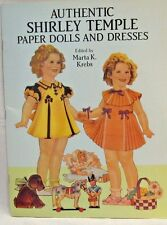 VINTAGE UNCUT 1991 SHIRLEY TEMPLE SAALFIELD PUBLISHING PAPER DOLL SET