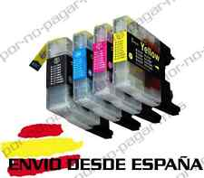 4 CARTUCHOS COMPATIBLES NonOem BROTHER LC1240 LC1280 MFC-J430W MFCJ430W
