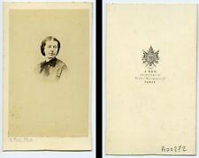 Woman Fashion Paris Early Photographic Studio Ken Old CDV Photo 1870