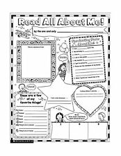 Instant Personal Poster Sets: Read All About Me: 30 Big Write-a... Free Shipping