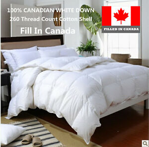 100% Cotton Canadian White Down Duvet Comforter Fill in Canada