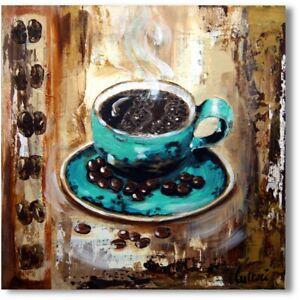 """Wandbild Tasse Abstrakt  Acrylmalerei """"Kaffeetasse"""" Unikat Nr.1131"""