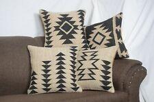 "4 Set of Jute Pillow Cover Throw Indian Jute Cushion 18"" Handmade Vintage 9068-A"