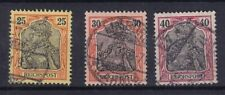 Germany - 1899 To 1900 - Reichpost - SG57A To SG59A - Type B - CV 11.00 - used.