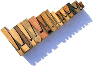 """Letterpress WOOD 17 x Exclamation Marks from 4"""" high **Superb RARE Typefaces**"""