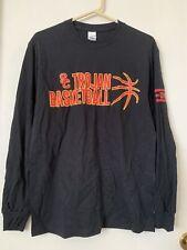 Usc Trojan Basketball T-Shirt - Black - M - Long Sleeve - Heavy Cotton