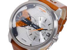 Diesel Men's Mini Daddy Stainless Steel Brown Leather Watch 46mm  DZ7309