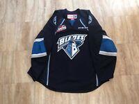 Saskatoon Blades Authentic Team Issued Road Blue Jersey WHL CHL MIC CCM 56