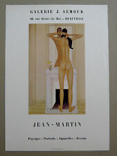 JEAN-MARTIN Affiche ORIGINALE Deauville Semour LYON Forces Nouvelles Nu féminin