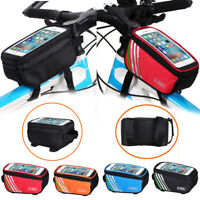 Bicycle Bike Frame Front Tube Bag Waterproof CellPhone Pouch Holder Touch Box