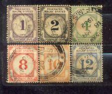 1924 Malaya Malaysia Federated Malay States FMS Postage Due Complete Set