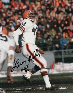 LEROY KELLY CLEVELAND BROWNS SIGNED 8x10 (8-10) (OSG COA)