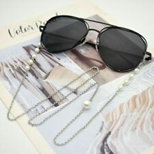 Women Stainless Steel Eyeglasses Chains Imitation Pearl Spectacles Sunglasses