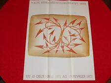 COLL.J. LE BOURHIS AFFICHES  / Rare! FOLON EXPO MUSEE  ARTS DECORATIFS EO 1971