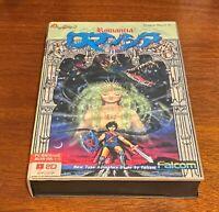 NEC PC-8801 ROMANCIA Dragon Slayer Jr. Import Complete in box, tested