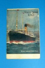 Vintage White Star Line Runic Leaving Cap Town Post Card