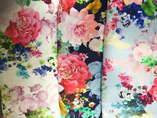 Printed Summer Florals on Viscose/Lycra Jersey Dressmaking Fabric