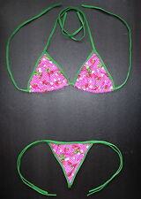 Ladies G-STRING BIKINI Nice Pink Red Strawberry Swimming Costume Thong Swimwear
