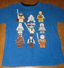 LEGO STAR WARS youth lrg T shirt Yoda kids tee Chewbacca X-Wing pilot