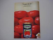 advertising Pubblicità 1970 POMODORO PELATI CIRIO
