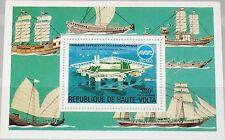 Upper Volta obervolta 1975 bloque 38 S/s c223 expo 75 Okinawa ships barcos mnh