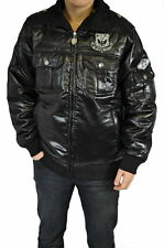 Herren Jacke Glanz Jacke in Schwarz American Streetwear