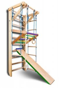 Wooden Swedish Ladder Workout Wall Bars Sport Children Home Gym Adults Kids Toys
