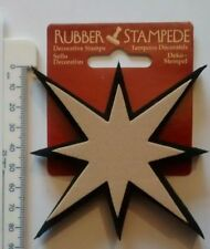 8 POINT STAR  Stamp and decorate just about any surface! STAMPEDE RUBBER STAMPS
