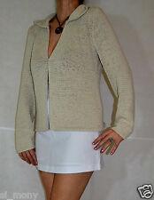 Le donne beige elegante cardigan su principi BORCHIE TAGLIA 18