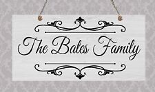 Handmade Chic Family Hanging Door Sign Wooden Plaque Gothic Style Mother's Day