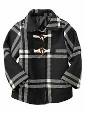Gap Girls Checked wool Toggle Coat new size 4