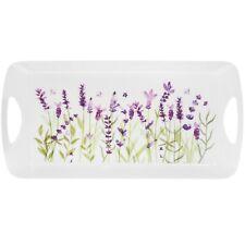 Lavender Flower Design Medium Melamine Food Lunch Tea Coffee Snack Serving Tray
