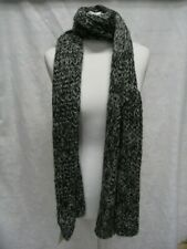 M&S Grey and White Long Scarf 210cm x 32cm Wide